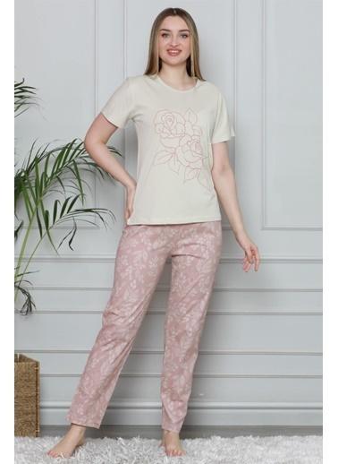 Akbeniz Pijama Takım Bej